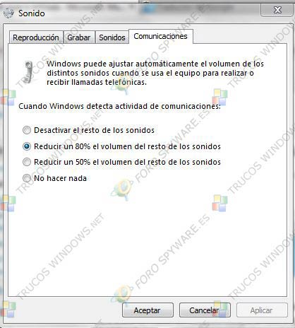 Configurar ajustes de volumen automaticamente Windows 7
