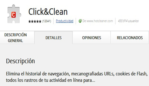 Protege tus datos privados de Chrome con Click & Clean
